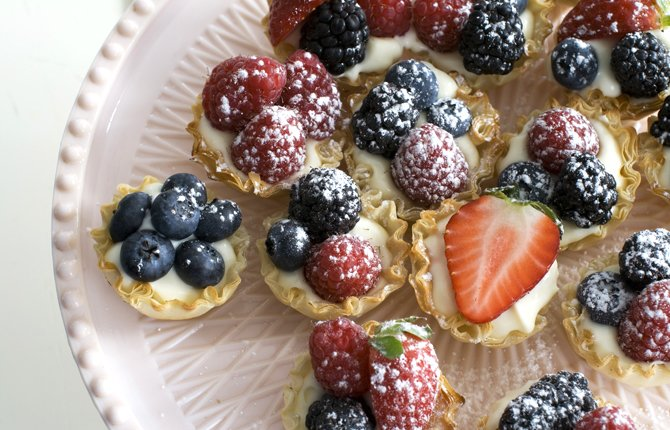 LEMON-BERRY TARTLETS.