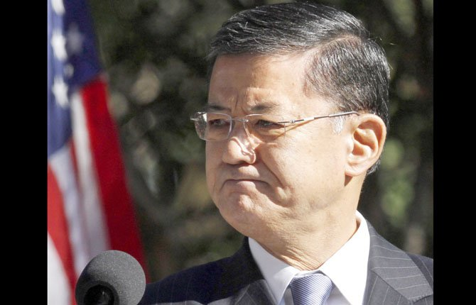 VETERANS AFFAIRS Secretary Eric Shinseki said March 24 that he's committed to ending the backlog by 2015 by replacing paper with electronic records.