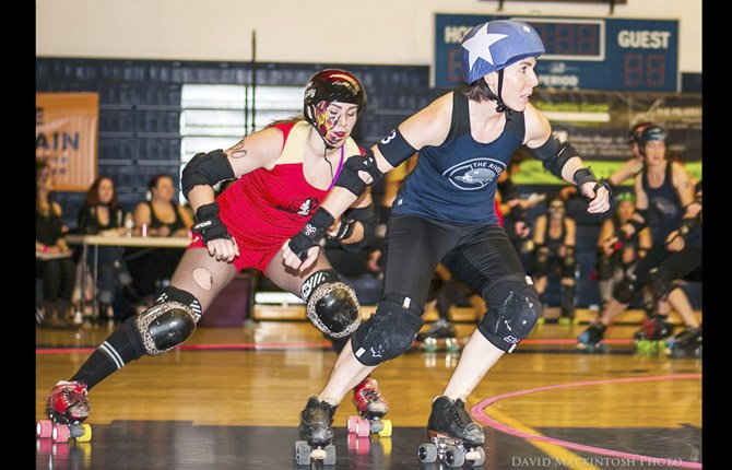 Gorge Roller Girls return to action Saturday, April 13, against Medford's Southern Oregon Rollergirls at the Hood River Valley High School gym. Doors open at 5 p.m., action starts at 6.