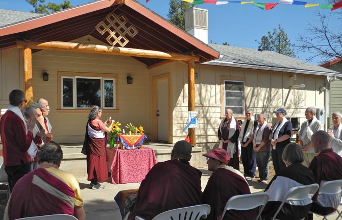 Pictured is the March 31 ceremony opening the year long retreat at the new Buddhist retreat center near Goldendale.  	Contributed photo