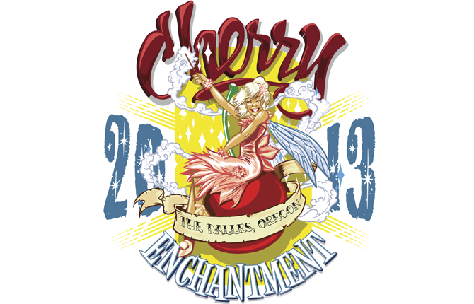 This year's Northwest Cherry Festival poster art, with the theme, Cherry Enchantment, was created by Hood River artist and illustrator Joe Cerniglia.