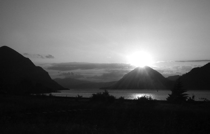 Columbia Gorge sunset.