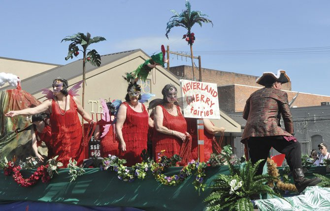 The Cherry Pit Queens' float earned the People's Choice Award in the 2013 Northwest Cherry Festival parade April 27.