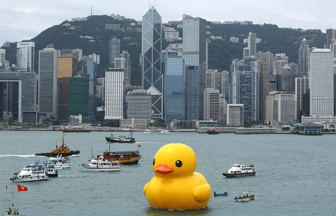 Rubber Ducky Sees World
