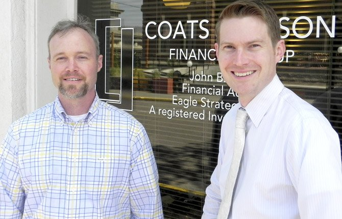 JOHN COATS, left, and David Jackson have joined forces to launch a new financial services organization, Coats Jackson Financial Group.