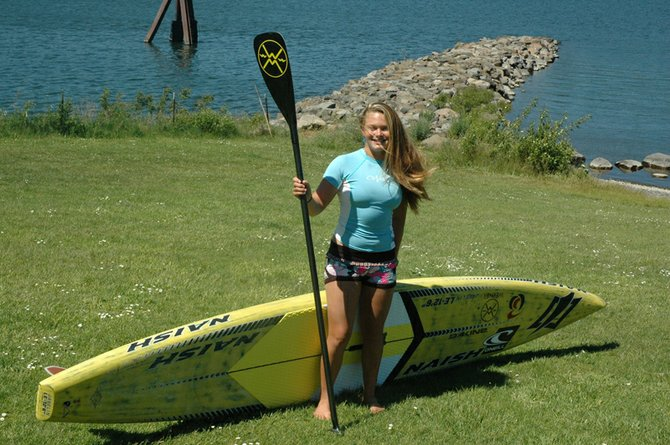 Fiona Wylde, who competes internationally in stand-up paddling, will stage her own hometown event on July 22.