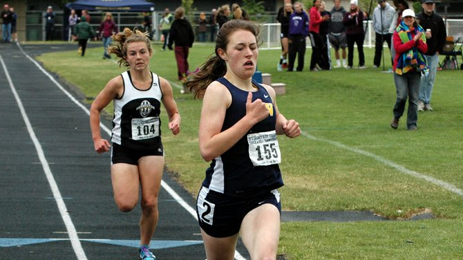 Lydia gildehaus wins the 1,500-meter race Saturday in thrilling fashion with a home-stretch kick to pass Hermiston rival Maggie Coleman in the last 50 meters.