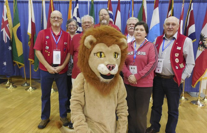 The Dalles Lions members, from left, Mike Kilkenny, Kate Mast, John Layson, Bob Guerrant, Kris Harmon, and Jim Bishop, attended the Lions MD-36 State Convention May 17 and 18 in Pendleton.