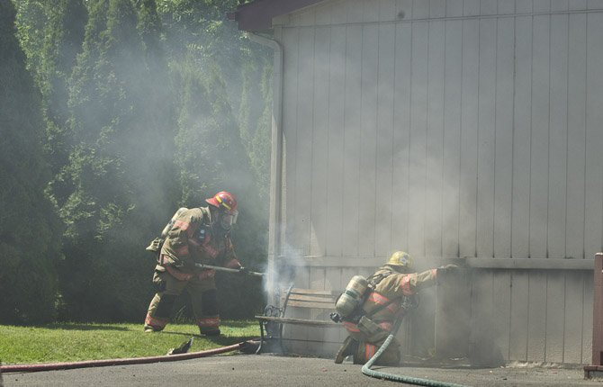 A midday fire Friday, June 7, damaged a mobile home located approximately 1/2 block east of Snipes, just west of West 7th street.