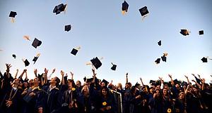 HRV graduates celebrate at the school's 2013 graduation.