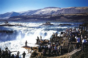 'Morning catch, Celilo Falls, 1940'