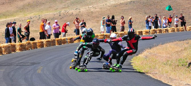 maryhill loops road is the scene for the annual Maryhill Festival of Speed, which brings downhill skateboarders and lugers from around the world to compete on the pristine roadway.