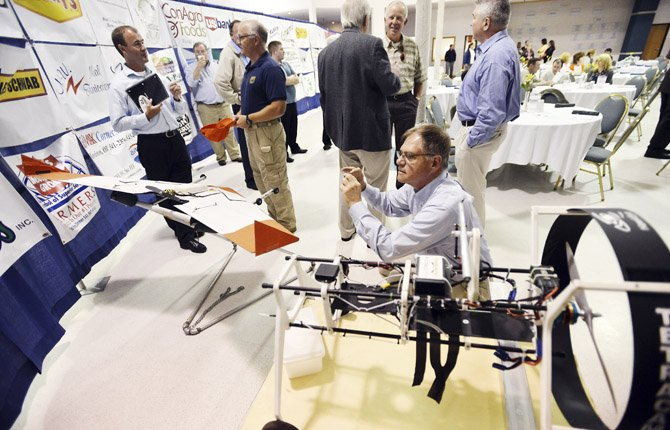 "Unmanned aerial vehicles were the topic of conversation at a forum called ""They're not Drones: Potatoes and the Future of Unmanned Aircraft,"" hosted June 25 by the Hermiston Chamber of Commerce."