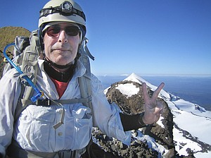 Paul Crowley on the Summit of North Sister, June 8, 2013.