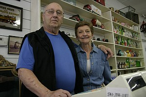 Roger and Lindamay Woosley are right at home at the revitalized Old Trunk on Dee Highway.