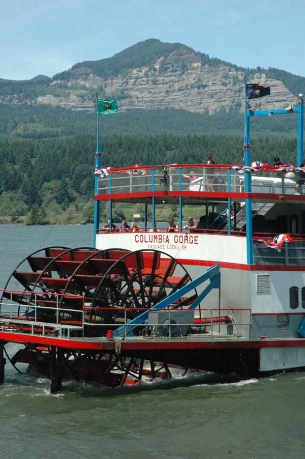 The Columbia Sternwheeler plies the waters; the vessel took a special 30th anniversary cruise on Saturday afternoon