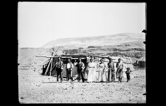 """WISHRAMS WITH BELLS"" is one of the vintage photographs featured as part of a July 12 history dinner on the Columbia Basin photography of Lee Moorhouse at the Columbia Gorge Discovery Center."