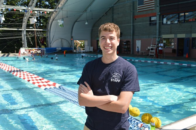 Leo Dorich and other lifeguards use floats and other equipment, and help enforce rules. Care to learn first aid or CPR? Call the pool at 541-386-1303.