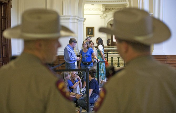 DOZENS WAIT to enter the Senate gallery moments after the Texas State Capitol opened its doors at 7 a.m., in Austin, Texas July 12. The Texas Senate's leader, Lt. Gov. David Dewhurst, has scheduled a vote for Friday on the same restrictions on when, where and how women may obtain abortions in Texas that failed to become law after a Democratic filibuster and raucous protesters were able to run out the clock on an earlier special session.