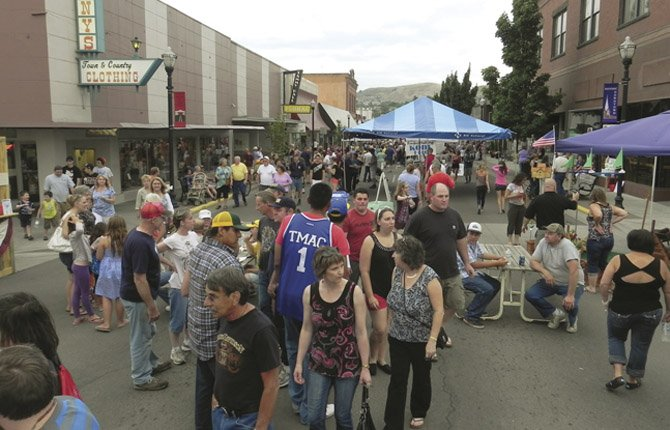 CROWDS POURED into downtown The Dalles for Jammin' July in 2012. This year's event promises even more fun with some new activities.