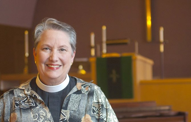 THE REV. DR. MAGGIE ROURK, INTERIM PASTOR at Zion Lutheran Church, began serving the church in March, and expects the congregation will have a new pastor chosen before the year is out.