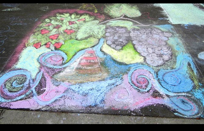 Chalk art entry, 2013, Jammin' July festival.