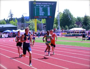 parker kennedy, pictured here at the 2013 Oregon high school track and field championships this spring, has his sights set on the USATF Junior Nationals next spring.