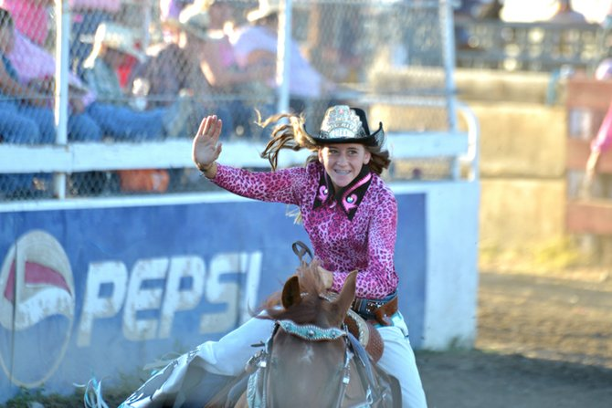 Hood River's Chantell Carter in action in the 48th annual NPRA Fort Dalles Days Rodeo.