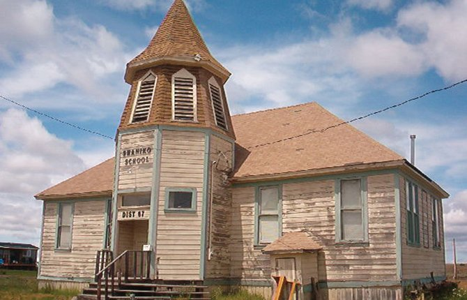 SHANIKO'S SCHOOLHOUSE will be among the historic buildings on display during Shaniko Days, the first weekend in August. A wide range of activities are planned during the 28-year-old event.	Chronicle file photo