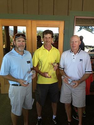 group winners Pete?Hixon,?Mark Mason and Ross Kitt.