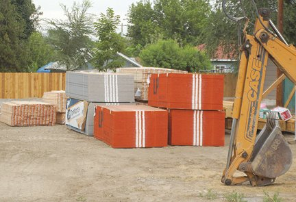 Supplies are on hand for construction of a new two-story duplex at 1206 Idabelle Lane in Sunnyside. It was one of 52 permits issued during the month of July by city building officials.