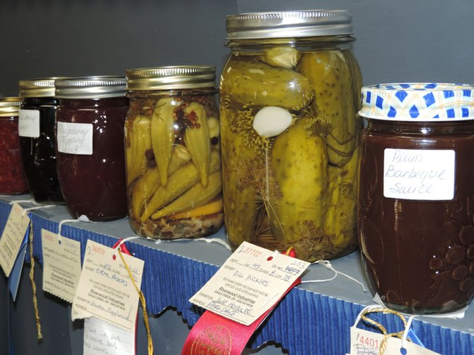 WINNING FOOD preservation entries at 2013 Hood River County Fair: good taste and artistry, under pressure.