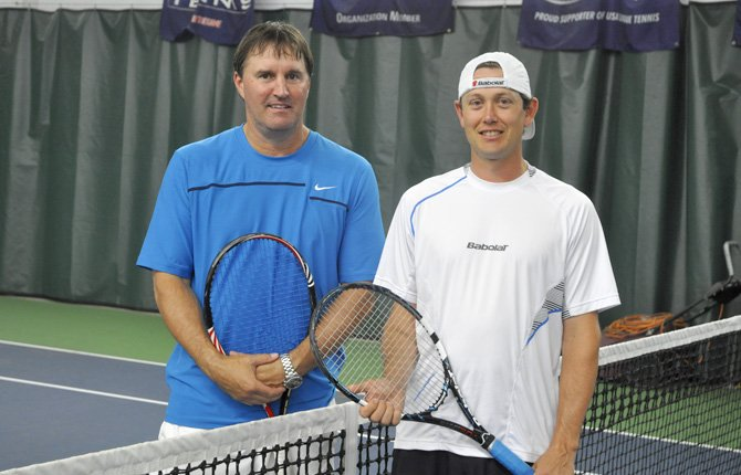 DAVID STURDYVIN, left, and Craig Pearce hold top Pacific Northwest rankings in United States Tennis Association competition.