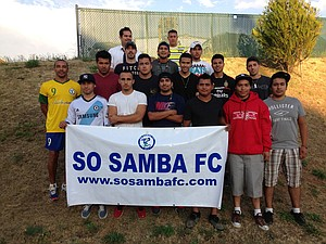 SO SAMBA FC'S working roster includes the following players: Felipe Herera Nieto, Diego Diaz Barrera, Jose Jesus Campos, Jorge Ramo, Rogelio Hernandez Avalos, Emmanuel Aguil-era, Raul Marquez, Florencio Lulo Bazam, Jose Luiz Hernandes, Jesus Eliaz Guerrero, Rober-to Busto, Braulio Garcia, Gerardo Gana Delgado, Cheno Barujas, Alberto Munoz and, not pictured, Santiago Galinato, Rigoberto Neymar Villanueva and Rafael Mondragon.