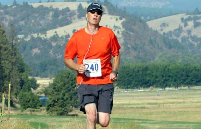 RUNNING enthusiast Brad Anderson notched a time of 45 minutes and 51 seconds for sixth place in the 10k race this past weekend in Dufur.