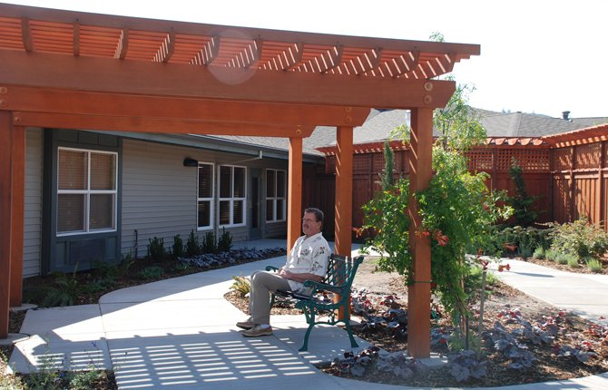 A secure courtyard is one of The Springs at Mill Creek's Memory Care wing features.	Contributed photos/Olga Haley for The Springs Living