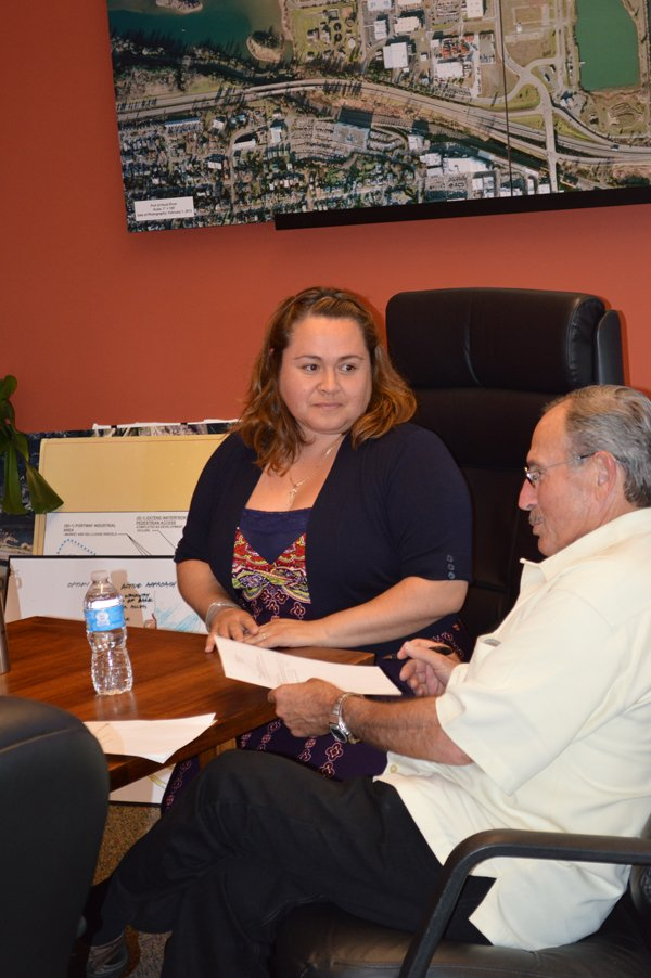JULIA GARCIA-RAMIREZ was sworn-in Wednesday and is believed to be the first Hispanic board member in the district.