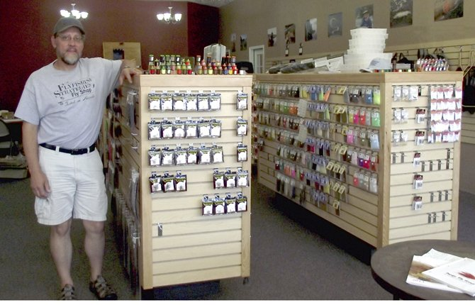 PAUL ANDERSON has launched Flyfishing Strategies Fly Shop at 109 E. Second St., in The Dalles. He will celebrate the store's grand opening this Friday and Saturday, Aug. 23 and 24.	Kathy Ursprung photo