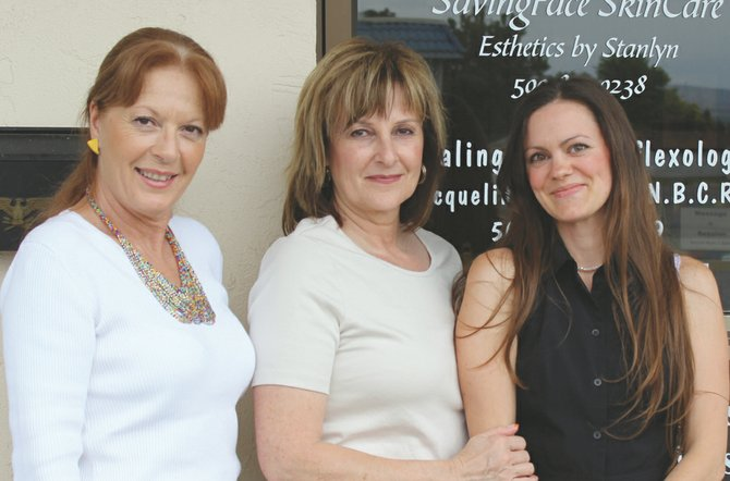 Teaming up to offer their specialty services in reflexology, facial skin care and therapeutic massage are (L-R) Jacqueline Lyczewski, Stanlyn Nelson and Breanna Harting. The women are now scheduling appointments at their new offices in Prosser at Clinical and Wellness Massage, 705 S. Seventh St.