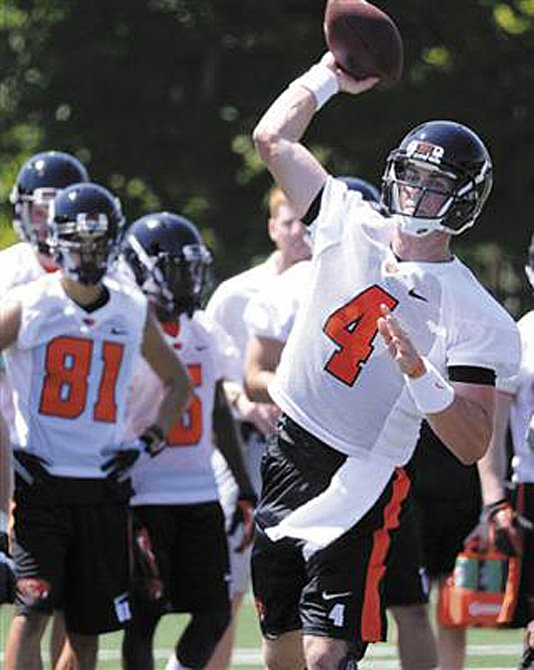 Sean Mannion has been named Oregon State's starting quarterback for Saturday's opener against Eastern Washington.