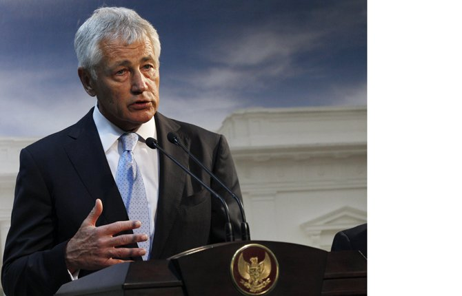 DEFENSESECRETARY Chuck Hagel sajd Tuesday that U.S. forces are now ready to act on any order by President Barack Obama to strike Syria. The U.S. Navy has four destroyers in the eastern Mediterranean Sea positioned within range of targets inside Syria, as well as U.S. warplanes in the region, Hagel said in a televised interview. AP Photo/Achmad Ibrahim