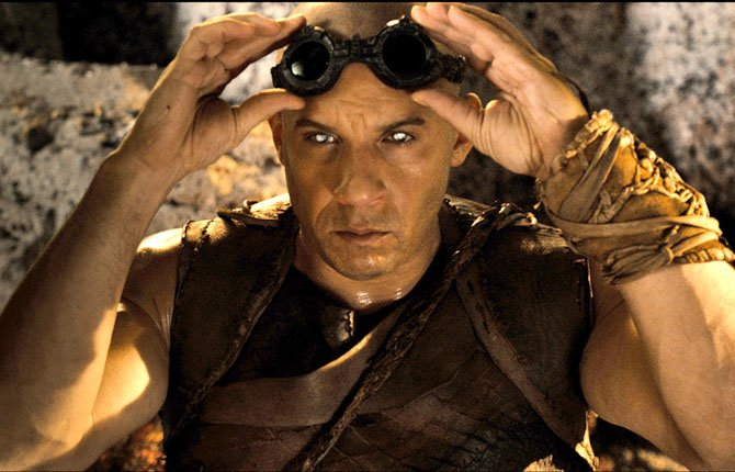 "VIN DIESEL is shown in a scene from ""Riddick."" 	AP Photo/Universal Pictures"