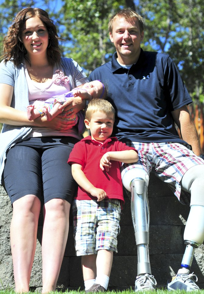 ARMY STAFF SERGEANT Christian Bagge and his family live in a home designed to accomodate his mobility challenges. Bagge lost his legs in June of 2005 after a bomb exploded under his vehicle during a patrol in Iraq.
