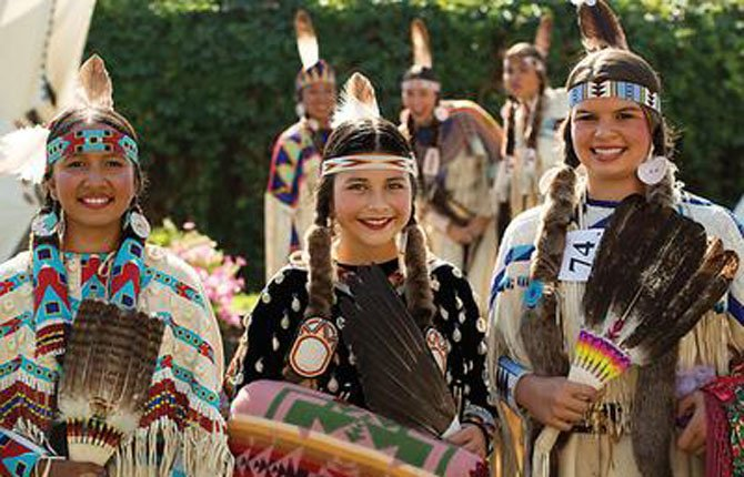 YOUNG CONTESTANTS compete in Junior American Indian Beauty Contest.	Rachel Owen/East Oregonian photo