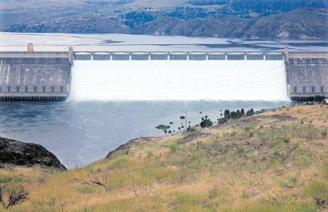 Construction of Grand Coulee Dam is one of the featured stories in a new state exhibit.