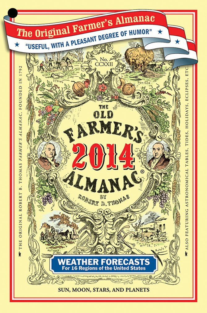 The Old Farmer's Almanac predicts a cold and snowy winter for the Pacific Northwest and a cool summer in 2014.
