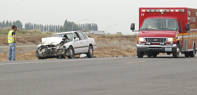 A Grandview driver headed east on Yakima Valley Highway this past Friday became the victim in a rear end collision near Alexander Road. The white Honda was eastbound on Yakima Valley Highway when a Ford pick-up in front of it abruptly slowed when the vehicle in front of the Ford attempted to turn off the highway, causing the Honda to collide with the pick-up. The driver of the Ford was cited for following to closely, according to Sunnyside police. No one was injured in the accident, but the Honda was totaled.