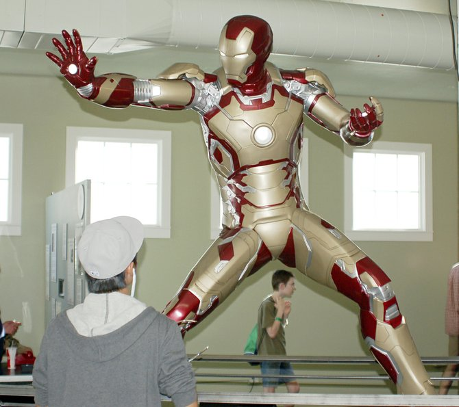 Larger than life, the super hero Iron Man display gives fairgoers an up close look at the mechanics that make the Iron Man character so engaging. Housed in Pioneer Hall at the Central Washington State Fair in Yakima, the exhibit is sponsored by Yakima Theaters and for $5 fairgoers can sit in the Batmobile, located just outside the hall. The state fair continues through Sept. 29 at State Fair Park.