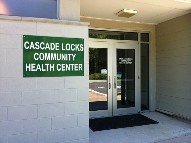 The entrance to the new Healthcare facility in Cascade Locks.