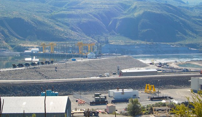 Wells Dam, south of Pateros, is the subject of a relicensing celebration on Tuesday.